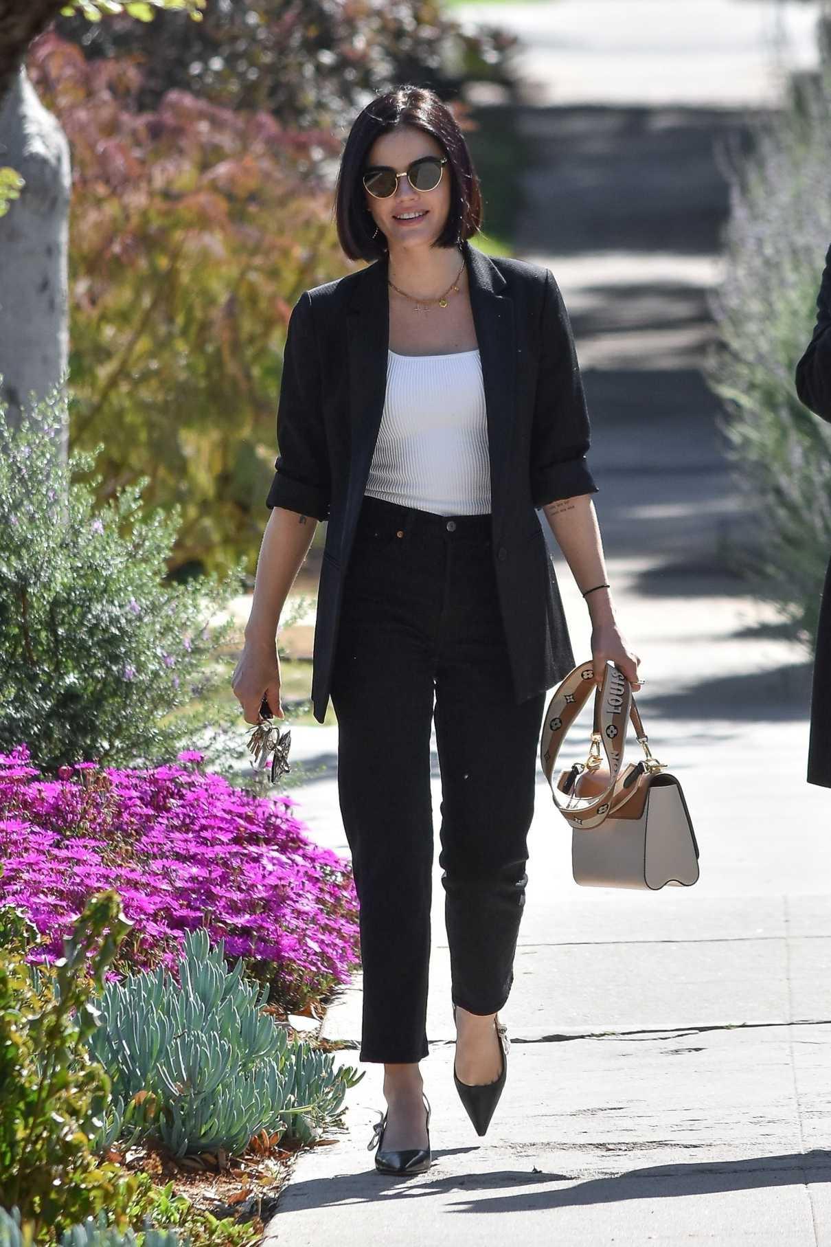 Lucy Hale in a Black Blazer