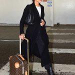 Olivia Culpo in a Black Cardigan