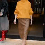 Olivia Palermo in a Yellow Sweater