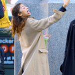 Zendaya in a Beige Coat