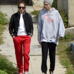 Cara Delevingne in a Gray Knit Hat Was Seen Out with Ashley Benson in Los Angeles 03/20/2020