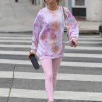 Chantel Jeffries in a Pink Leggings
