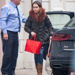 Emilia Clarke in a Black Puffer Jacket Was Seen Out in London 03/10/2020