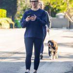 Jennifer Garner in a Blue Sweatshirt