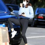 Katharine McPhee in a Face Mask
