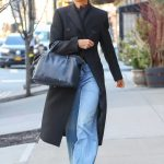 Katie Holmes in a Black Coat Was Seen Out in New York City 03/04/2020
