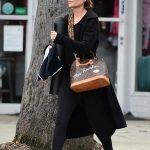 Lisa Rinna in a Black Coat
