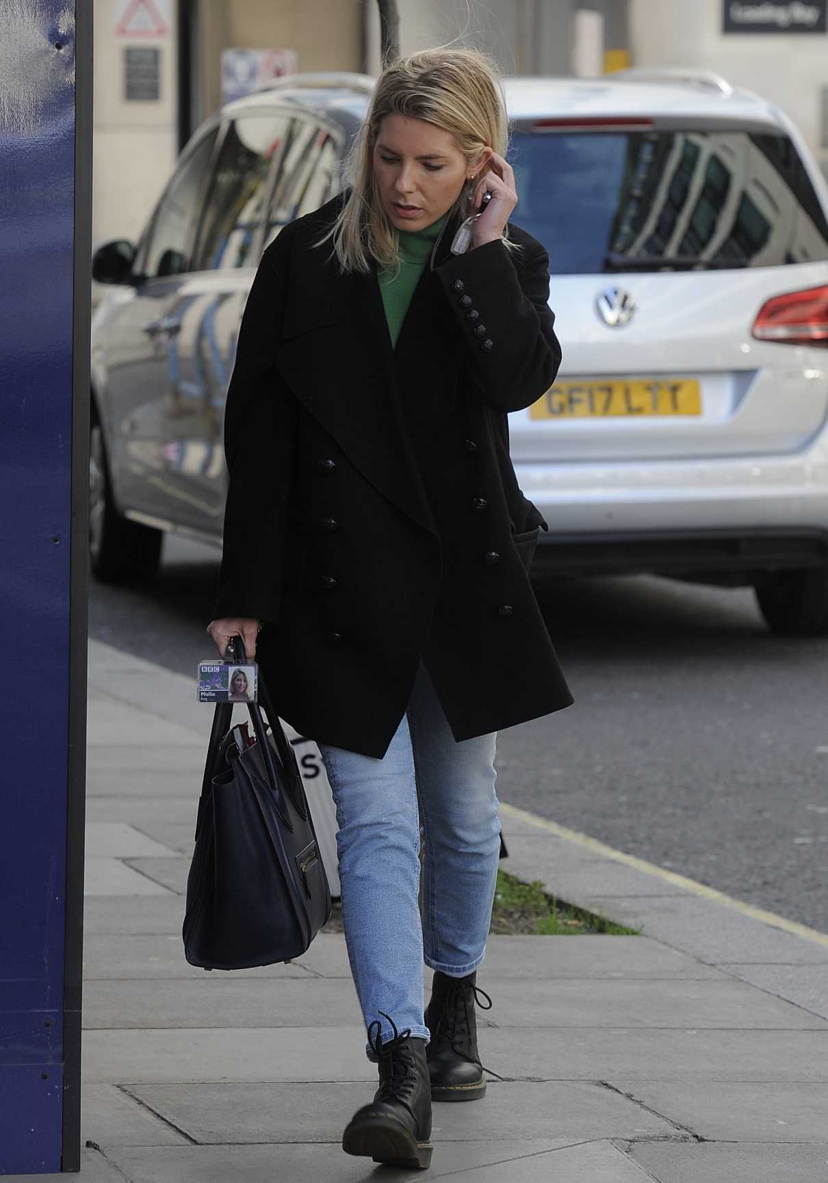 Mollie King in a Black Dr. Martens Boots