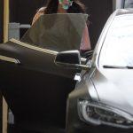 Nina Dobrev in a Surgical Face Mask