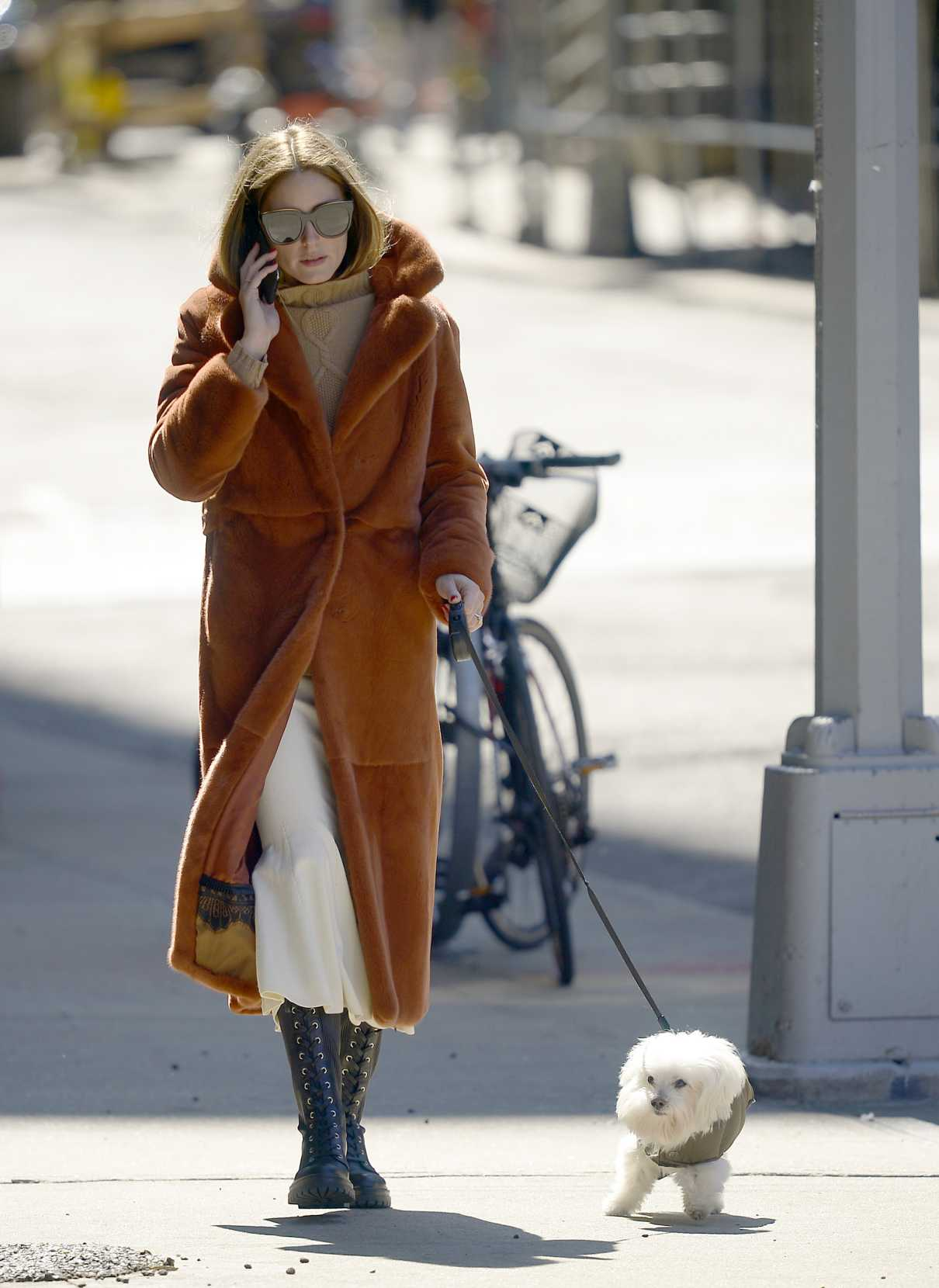 Olivia Palermo in a Black Boots