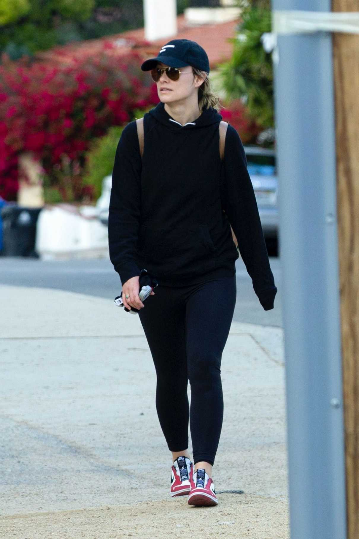 Olivia Wilde in a Black Cap
