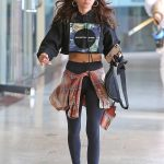 Sarah Hyland in a White Sneakers Heads to a Tanning Session in Los Angeles 03/11/2020