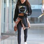 Sarah Hyland in a White Sneakers