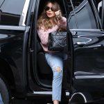 Sofia Vergara in a Pink Sweatshirt Arrives at America's Got Talent in Pasadena 03/14/2020