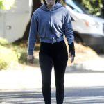 Ali Larter in a Black Leggings Was Seen Out in Santa Monica 04/03/2020