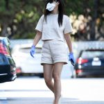 Cara Santana in a Face Mask Was Seen During the COVID-19 Lockdown in Los Angeles 04/24/2020