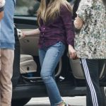Danielle Fishel in a Purple Shirt