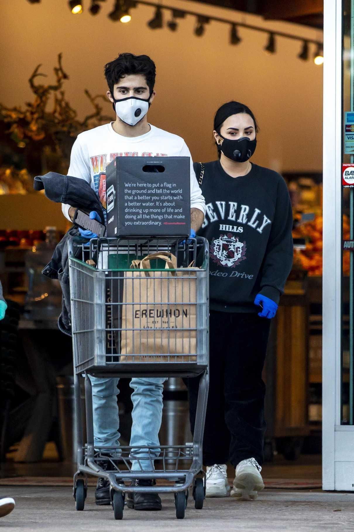 Demi Lovato in a Black Sweatshirt