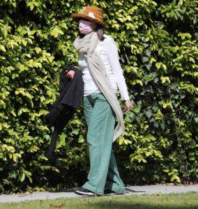 Diane Keaton in a Green Pants