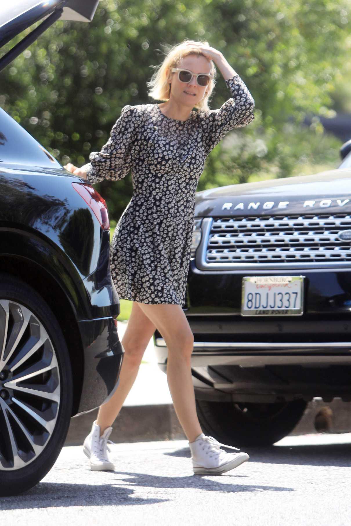 Diane Kruger in a Short Floral Dress