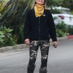 Helen Hunt in a Camo Leggings Was Seen Out in Los Angeles 04/18/2020