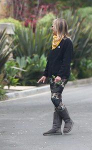Helen Hunt in a Camo Leggings