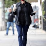 Jane Lynch in a Face Mask Arrives at King's Road Cafe in Studio City 04/04/2020
