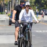 Katherine Schwarzenegger in a White Hoody