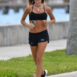 Kelly Bensimon in a Black Sneakers Does a Morning Run in Palm Beach 04/07/2020