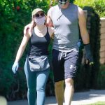 Kristen Bell in a Face Mask Was Seen Out with Dax Shepard at the Griffith Park in Los Angeles 04/22/2020