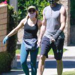 Kristen Bell in a Face Mask