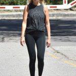 Malin Akerman in a Black Leggings Was Seen at Griffith Park in Los Feliz 04/03/2020