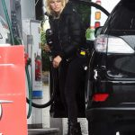 Malin Akerman in a Black Puffer Jacket Was Seen at a Gas Station in Los Angeles 04/10/2020