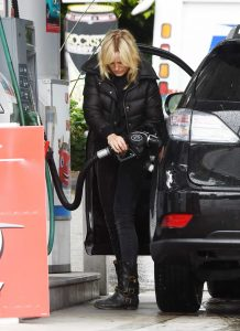 Malin Akerman in a Black Puffer Jacket