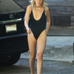 Malin Akerman in a Black Swimsuit Was Spotted Outside Her Home in Los Angeles 04/13/2020