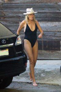 Malin Akerman in a Black Swimsuit