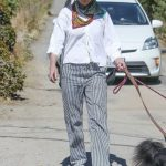 Andie MacDowell in a Striped Pants