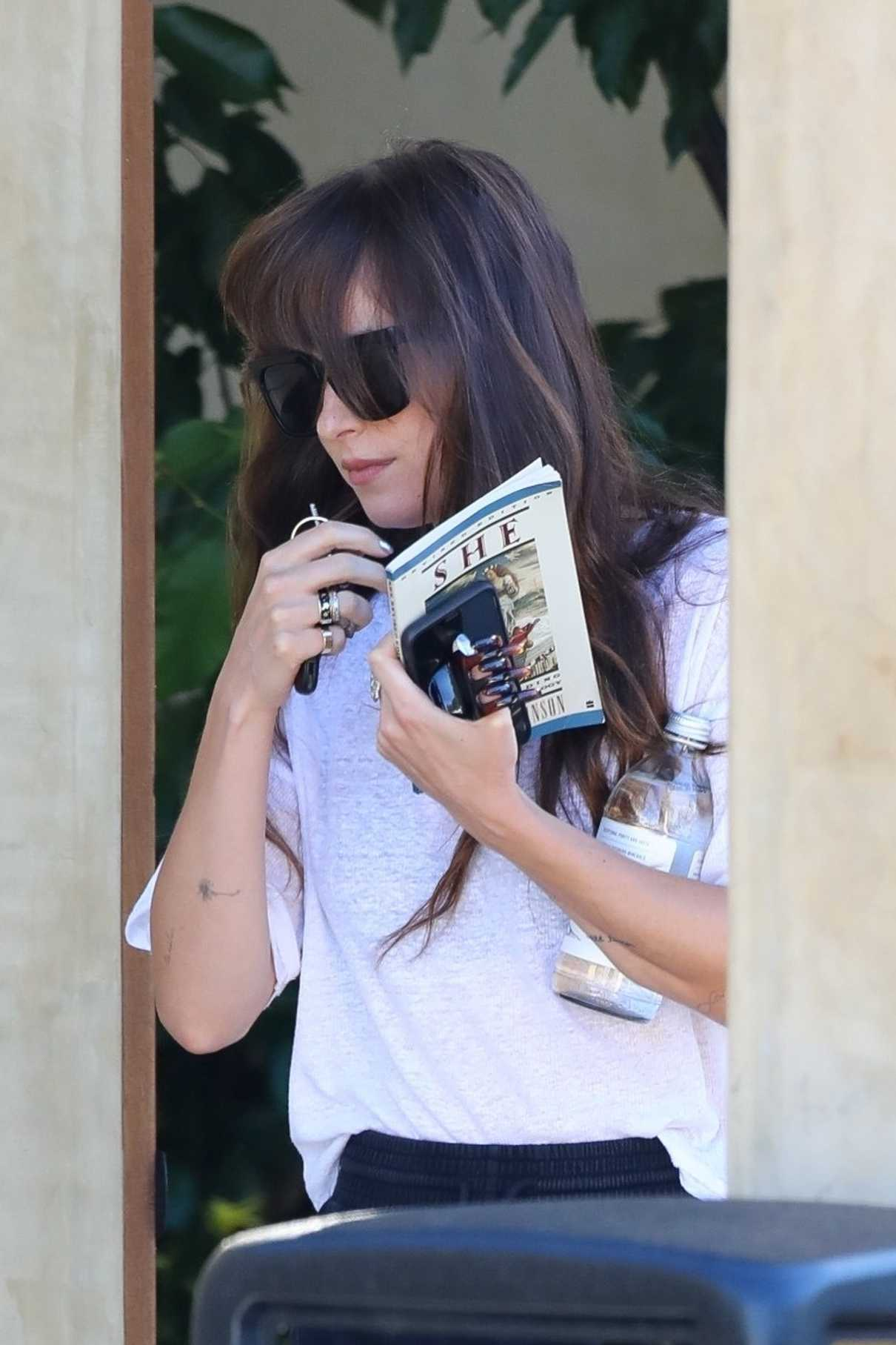 Dakota Johnson in a White Tee
