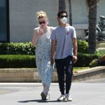 Elle Fanning in a Protective Mask