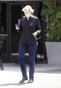 Jane Lynch in a Face Mask