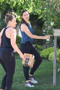 Jennifer Garner in a Blue Tank Top