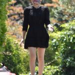 Kate Mara in a Short Black Dress