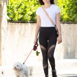 Lucy Hale in a Black Leggings