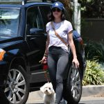 Lucy Hale in a White Tee