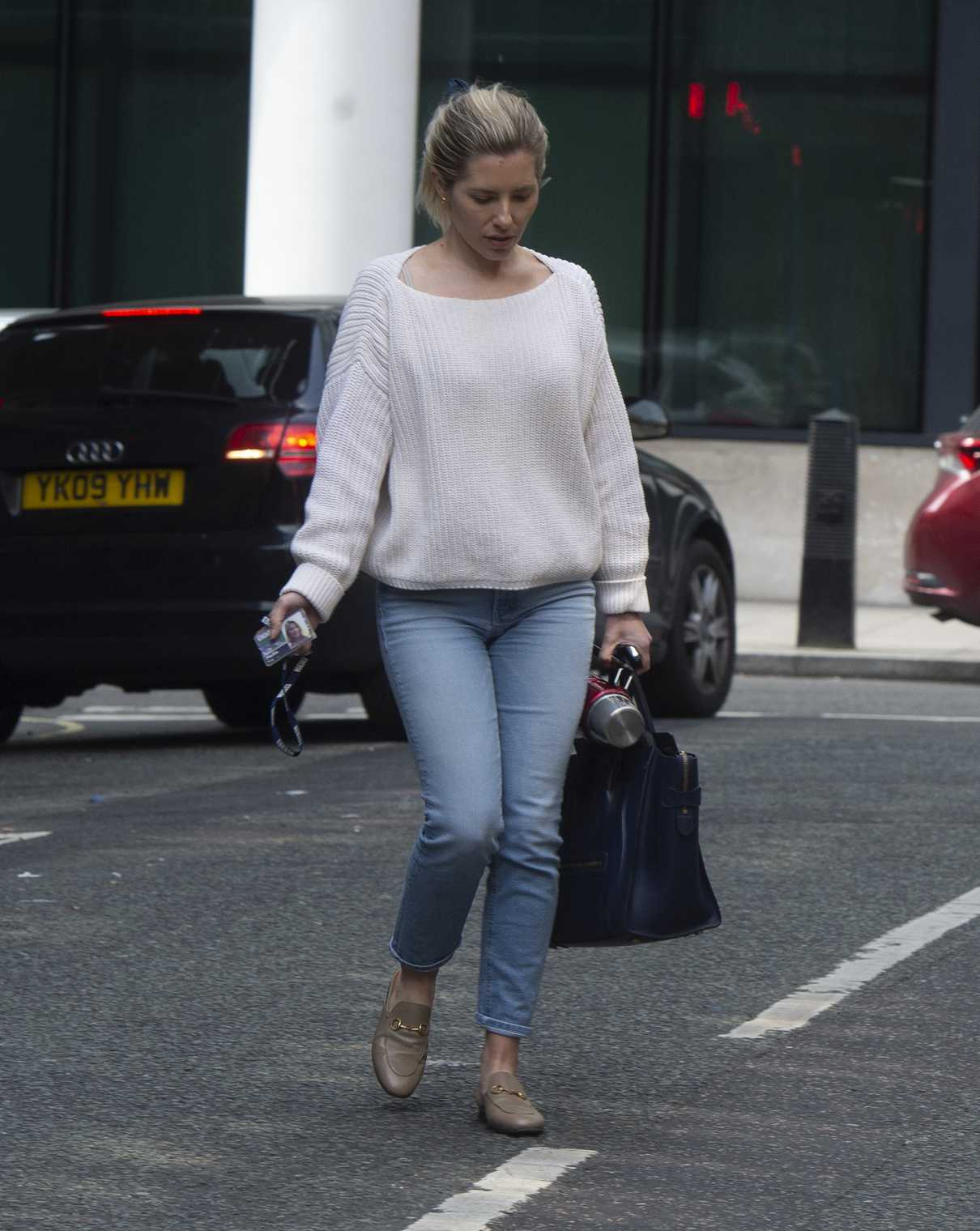 Mollie King in a Blue Jeans