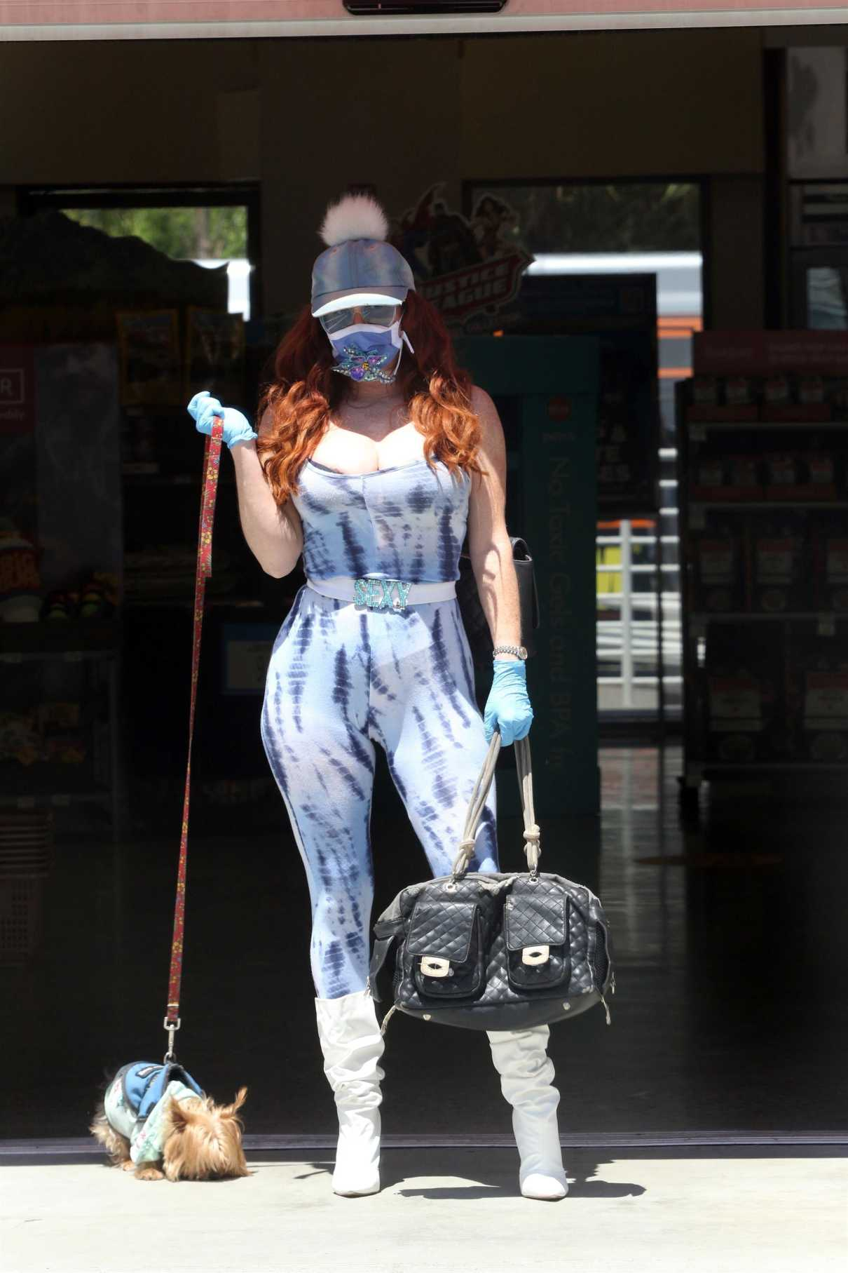 Phoebe Price in a Protective Mask