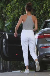 Sara Sampaio in a White Pants