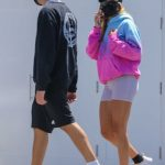 Sofia Richie in a Colorful Hoody