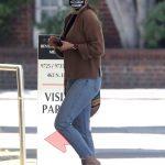 Sophia Bush in a Beige Cardigan