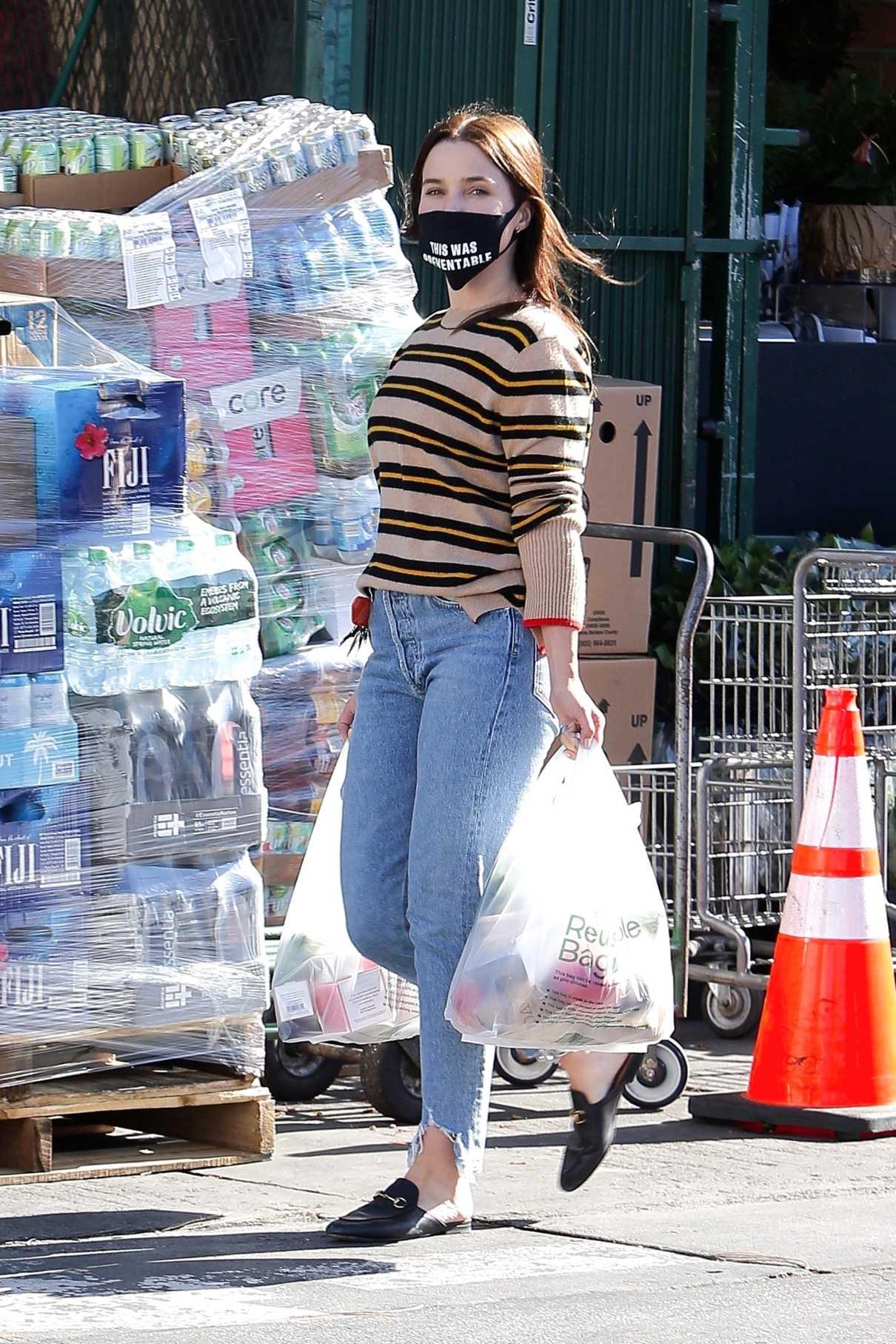 Sophia Bush in a Striped Sweater